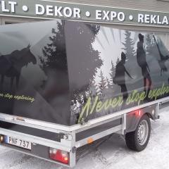 Helfolierad släpvagn till privatkund