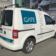 Dekor till GATEs servicebil