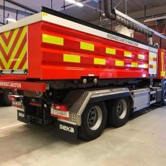 Reflexdekor till Räddningstjänstens tankbil