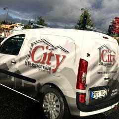 Halvfoliering till City Bybbservice