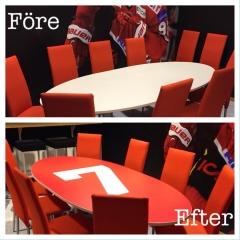 Konferensbord med företagslogo
