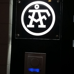 Gravyr LED-skylt till ÅF