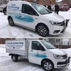 Printad & skuren dekor på Öviks Brunnsborrnings nya bilar