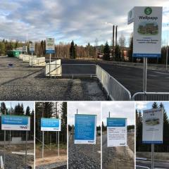 Mivas återvinningscentral i Bjästa