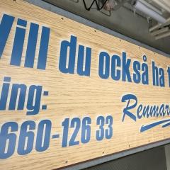 5,5 m banderoll till Renmarks Måleri