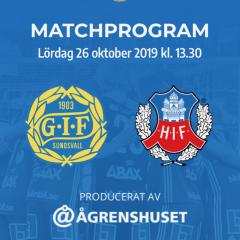 GIF Sundsvalls digitala matchprogram