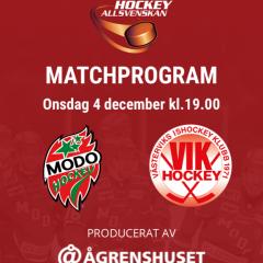 Modo Hockeys digitala matchprogram
